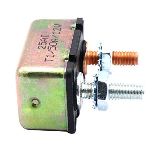 Homyl Sicherungsautomaten einstellen Universaler Leistungsschalter 12V Automatischer - 50A (50a Leistungsschalter 12v)