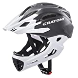 Cratoni Downhill Helm C-Maniac, Black-White Matt, Gr. S-M (52-56 cm)