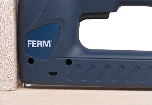 Ferm Combi Agrafeuse électrique avec 400Pinces et 100Clous, 1pièce, bleu, etm1004