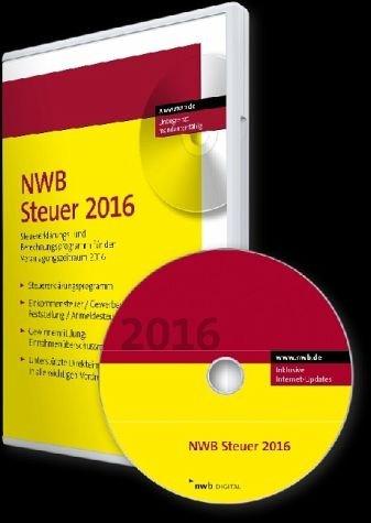 NWB Steuer 2016, CD-ROM Steuererklärungs- und Berechnungsprogramm für den Veranlagungszeitraum 2016. Einplatzlizenz. Für  Windows 7, Windows 8 und 8.1, Windows 10. Inklusive Internet-Updates