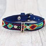 Hundehalsband aus Leder blau 30cm | Geschenk für Hunde | Handmade | Halsband Hund Robust | Geschenkidee