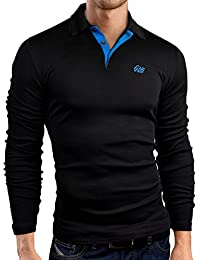 Grin&Bear coupe slim contrast Polo Tee Shirt, manches longues, GB160