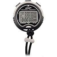 OFKPO Multi-function Digital Sports Stopwatch Timer Water Resistant, Large Display with Date Time and Alarm Function for Sports Coaches Fitness Coaches, Referees
