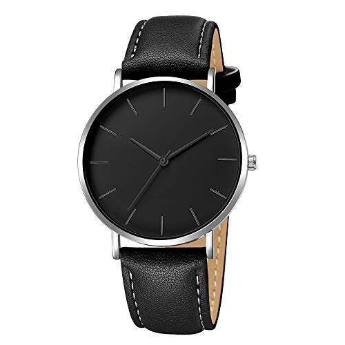 2019 Urh Herren Hohe Qualität Men's Sports Quartz Watches Geneva Fashion Men Date Alloy Case Synthetic Leather Analog Quartz Sport Watch Mode zu sehen