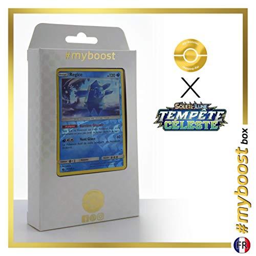 Regice 45/168 Holo Reverse - #myboost X Soleil & Lune 7 Tempête Céleste - Box de 10 Cartas Pokémon Francés