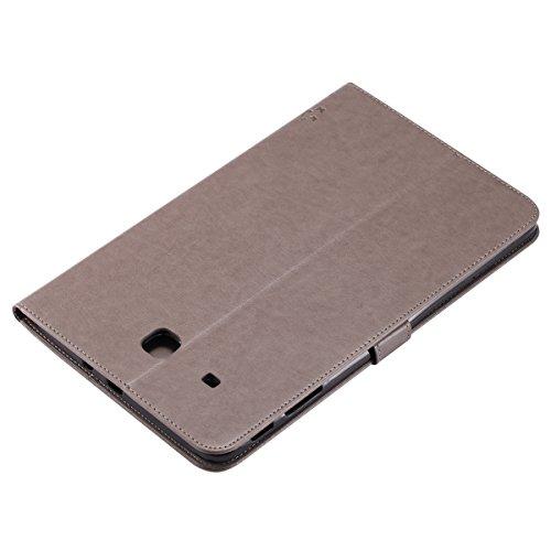 Custodia Galaxy Tab E 9.6, Galaxy Tab E 9.6 Flip Case Leather, SainCat Custodia in Pelle Cover per Samsung Galaxy Tab E 9.6 T560/T561, Anti-Scratch Book Style Protettiva Caso PU Leather Flip Portafogl Grigio