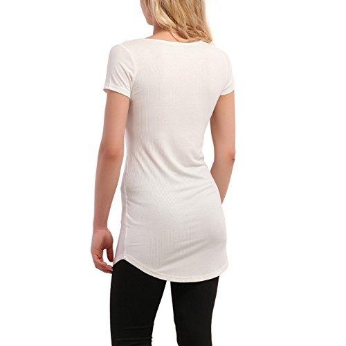 La Modeuse - T-shirt long femme Blanc