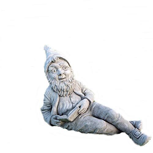 steinfiguren-neumann STEINFIGUR Englische GARTENFIGUR WICHTEL Kobold STEINGUSS