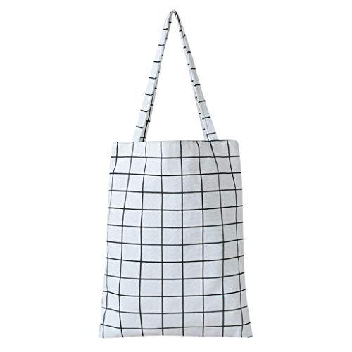 DAKERTA 2019 Schulter Leinwand Baumwolle doppelseitige Stofftaschen Einkaufstaschen Umweltfreundliche Einkaufstasche Wiederverwendbare Einkaufstasche Umhängetasche