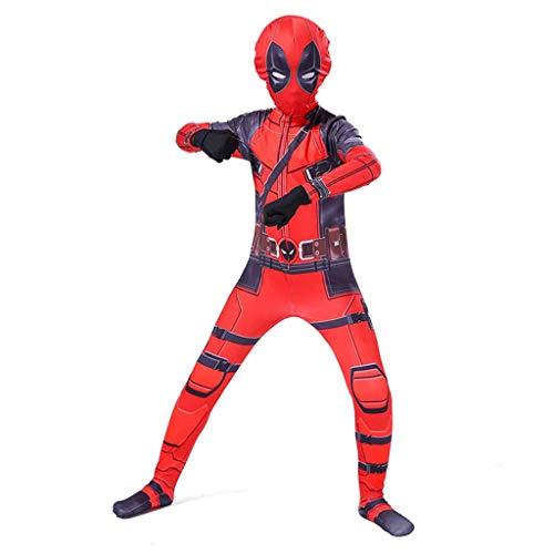 Xiaodun77 Deadpool Jumpsuit Super Skin Kostüm Erwachsene Unisex Männer Frauen Zweite Haut Body Onesie Kleidung Outfit Halloween Rollenspiel - Super Kostüm Skins