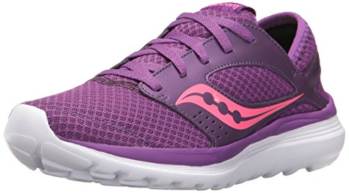 Saucony Womens Kineta Relay Road Running Shoe, Coral/Mint, 10 M US violet/rose