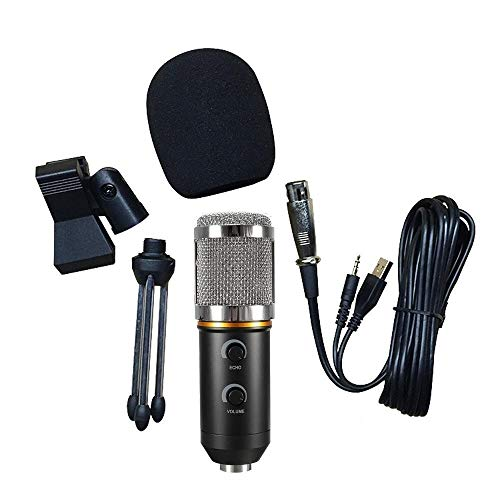 Elektro Kostüm Vollen - Computerzubehör USB-Kondensatormikrofon, Gesangsaufnahmemikrofon Studio-PC-Mikrofon Kompatibel mit PC-Laptop-Computern for Podcasting, Aufnahme, Skype, YouTube, MSN, Gesang, Google Sprachsuche Elektro