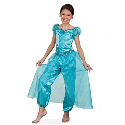 änzerin Top Pumphose türkis Fasching Orient Jasmin (116) (Flaschengeist Kostüm Für Mädchen)