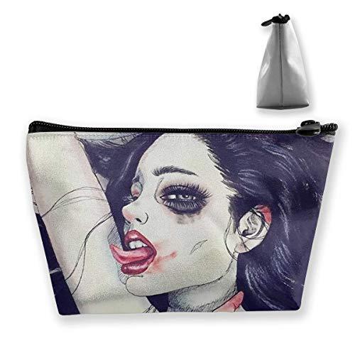 Reise-Make-up-Tasche - Goth Gotik Gothic Frauen Mädchen lecken Zunge Kunst Make-up Pouch...