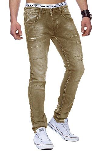 Jeans Hommes détruit Casper ID1445 bleu clair Sable