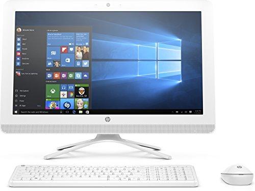 HP 22-B027NF PC de bureau Tout-en-Un 22' Full HD Blanc (Intel Celeron, 4 Go de RAM, 1 To, Intel HD 520, Windows 10)