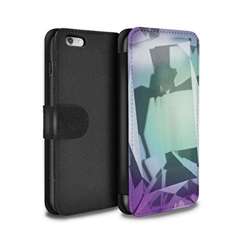 STUFF4 PU-Leder Hülle/Case/Tasche/Cover für Apple iPhone 8 Plus / Februar/Amethyst Muster / Edelstein/Stein Kollektion Juni/Alexandrit