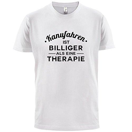 Kanufahren ist billiger als eine Therapie - Herren T-Shirt - 13 Farben Weiß