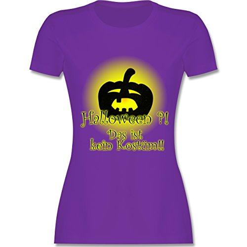 Halloween - Kein Halloweenkostüm - M - Lila - L191 - Damen Tshirt und Frauen T-Shirt (Keine Furchterregende Kostüm)