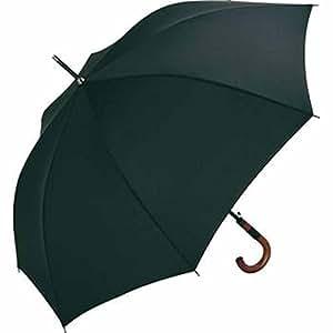 Fare - Parapluie standard 115 cm - poignée canne bois - 4132 - coloris NOIR - WINDPROOF - ouverture automatique