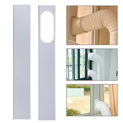 happyhouse009 - Set di nr.2 piastre regolabili da 84 a 120 cm, per condizionatore d'aria portatile Multicolore