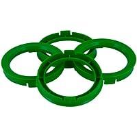 Set mozzo ruota TPI–Anelli 76.0- > 57.1mm, colore: verde - Quattro Hub Centric Anelli