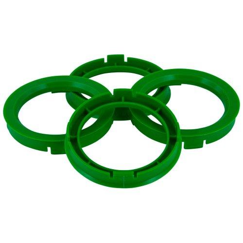 Set mozzo ruota TPI-Anelli 72.5- > 57.1mm, colore: verde - Quattro Hub Centric Anelli