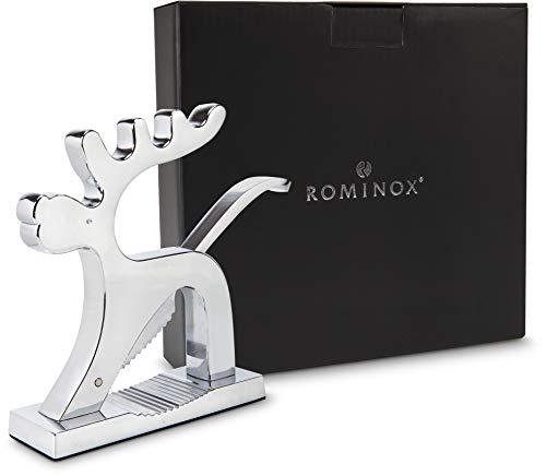 ROMINOX Geschenkartikel Nussknacker // Rentier - Motivnussknacker, Hochwertiger Rentier-Nussknacker mit Feder im Hebel; Maße: ca. 17 x 4 x 16 cm