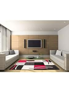 obsession tapis de salon moderne california pas cher rouge 80x150 cm cuisine maison. Black Bedroom Furniture Sets. Home Design Ideas