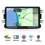YUNTX Android 9 Autoradio Compatibile con Dacia Sandero/Renault Duster/Logan 2 - GPS 2 Din - Telecamera Posteriore Gratuiti - 2G32G- Supporto DAB +/Controllo del volante/4G/WiFi/Bluetooth/Mirrorlink