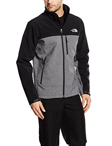 The North Face Herren Jacke Apex Bionic Heather/TNF Black, L - North Face Jacke Herren Apex