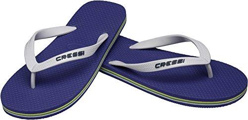 Cressi beach flip flops, ciabatte infradito per spiaggia e piscina unisex, blu/bianco, 37/38