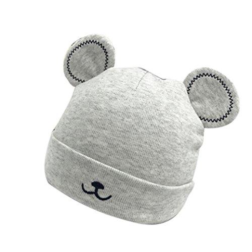 LuckyGirls Baby Mütze Kleinkind Mädchen Jungen Warmer Hut Nette Ohren PlüSch Kappe (Grau)