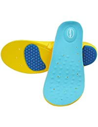 HappyStep: Semelles de sport mousse à mémoire avec creux de talon en gel et soutien coussin-amortisseur pour l'arche (tailles m)