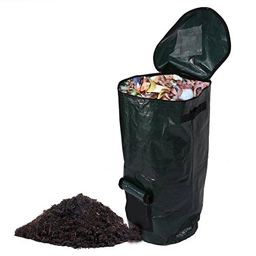 syooy klappbar Komposter Yard Abfallbeutel Kompostierung Obst Küchenabfälle Gärung Cali Secrets blumenzüchtern Staubbeutel 16L 35,1x 59,9cm