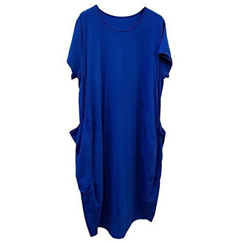 JMTI-Boutique Women's Plus Size Dress Summer Baggy Cotton