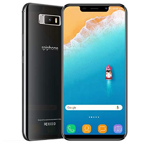 Moviles Libres Baratos, Spiphone Note 9 3GB RAM + 32GB ROM 3800mAh Bateria 5MP+13MP Dual Camara 5.84 Pantalla Full HD Dual SIM Face ID Telefono Móvil Android 7.0