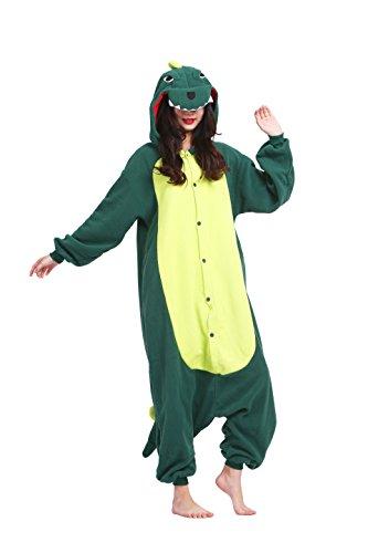 Magicmode Unisex Cosplay Kostüme Kigurumi Tiere Schlafanzug Erwachsene Strampelanzug Anime Hoodie Nachtwäsche Dinosaurier L