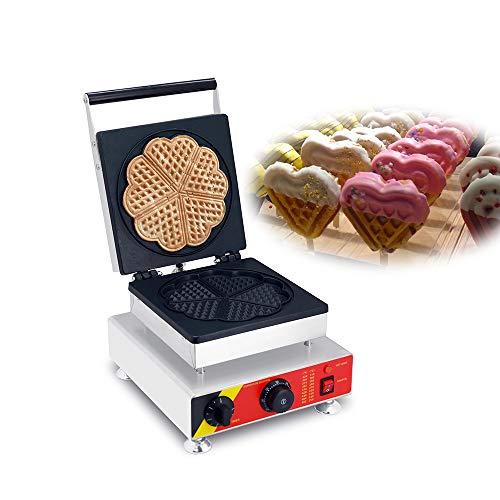 Cinque fette a forma di cuore commerciale waffle cone Machine Belgian waffle Maker pancake Maker macchina elettrica per SALE220-240V