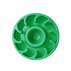Rrimin Pet Dog Cat Slow Food Feed Bowl Interactive Healthy Anti Slip Dish(Green)