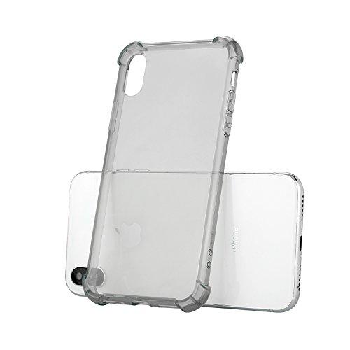 iPhone X Coque Case , Mode [Crystal Clear] Transparent Ultra-mince Soft Poids Léger Silicone Doux TPU Étanche Aux Chocs Housse Gel Etui Case Cover pour Apple iPhone X (Bleu clair) Noir 1