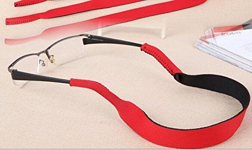 philna12Sport Sonnenbrille Brille Band Strap Cord Kette-Rot