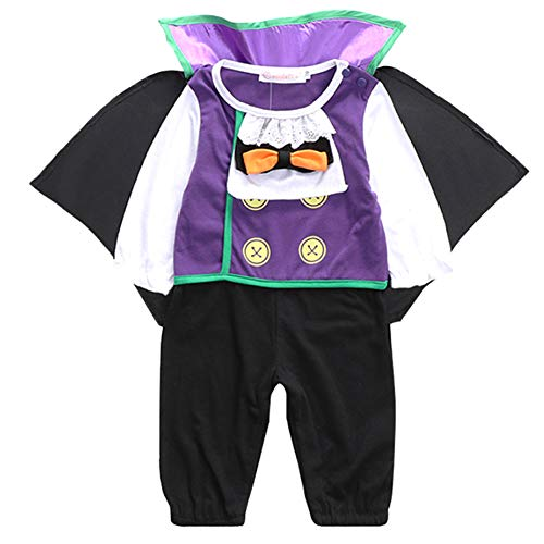 Kleinkind Kreative Kostüm - Romote Kind-Kleinkind-Baby-Halloween-Kostüm Kreative Vampire Design Baby Body Halloween Cosplay Ausstattungs-Halloween-Kostüm 1pc 70Yard 61-65cm