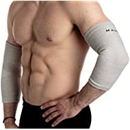 Mava Sports Elbow Sleeve Recovery Compression - Support for Workouts, Weightlifting, Arthritis, Tendonitis, Tennis and Golfer's Elbow - Bamboo Charcoal Fiber Athletic Elbow Compression Sleeves