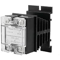 DealMux Relé de Estado Sólido Tensão Resistência Regulador, 25 Amp, 25V AC - 380V AC, dissipador de calor