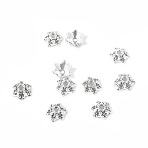 Wunderschöne Perle, Abstandhalter, Sterling-Silber, 50 Stück-Metall-Perlen für Schmuckherstellung, Nr. 1