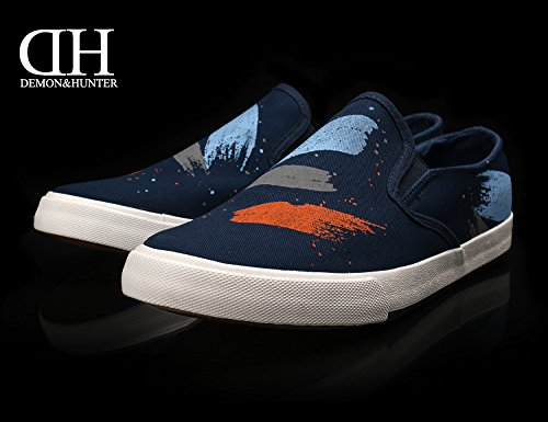 Demon&Hunter Herren Klassisch Blau Slip On S4L3186U Blau