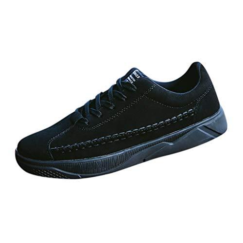 B-commerce Herren Soft Flock Schuhe - Mode Lässig Feste Schnürschuhe Sport Laufschuhe Sneakers Komfortable Slip On Board Schuhe Schuhe -