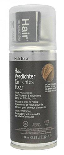 Hairfor2 Haarverdichter Spray, dunkelblond, 1er Pack (1 x 100 ml)
