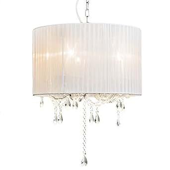 qazqa klassisch antik modern kronleuchter chandelier marie theresa 5 flammig mit organza. Black Bedroom Furniture Sets. Home Design Ideas